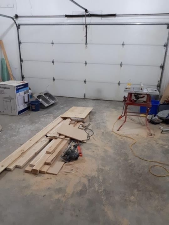 Garage Floor Before